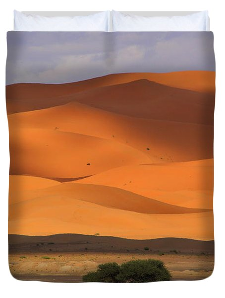 Duvet Cover featuring the photograph Shadows On The Dunes by Ramona Johnston