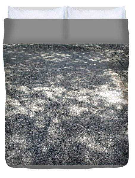 Shadows On The Ground Duvet Cover