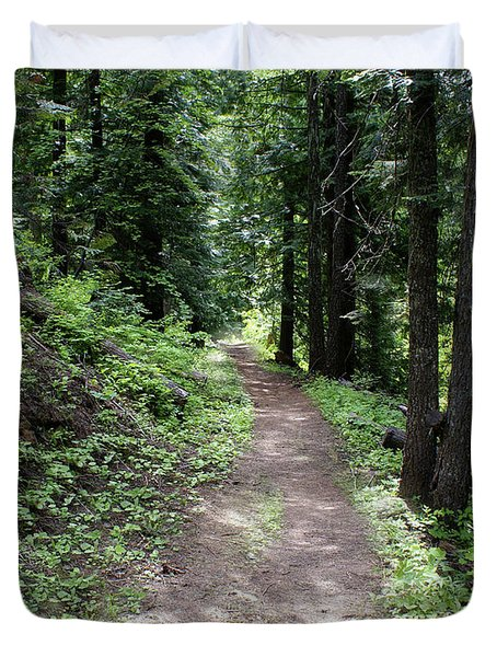 Duvet Cover featuring the photograph Shady Grove Path by Ben Upham III