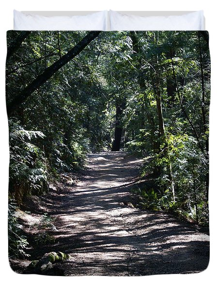 Shady Road On Mt Tamalpais Duvet Cover