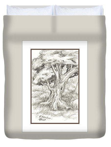 Shady Tree Duvet Cover by Ruth Renshaw