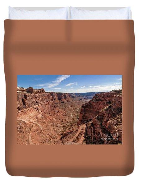 Shafer Canyon Road Duvet Cover