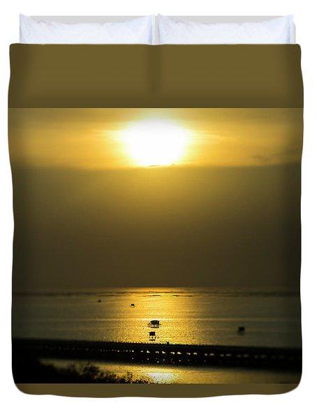 Shaft Of Gold Duvet Cover