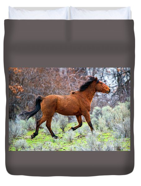 Duvet Cover featuring the photograph Shaggy And Proud by Mike Dawson