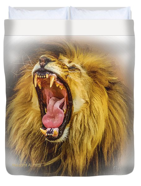 Stay Away From My Teeth Duvet Cover by Moustafa Al Hatter