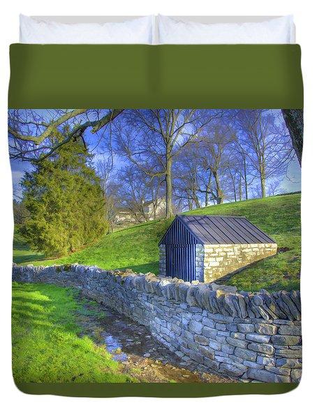 Shaker Stone Wall 6 Duvet Cover