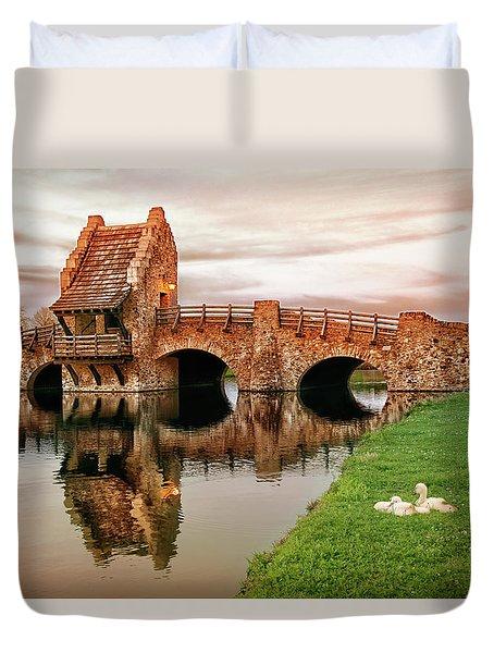 Shakespeare Bridge Duvet Cover by Iryna Goodall