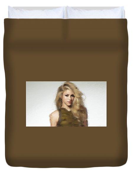 Shakira Duvet Cover by Iguanna Espinosa