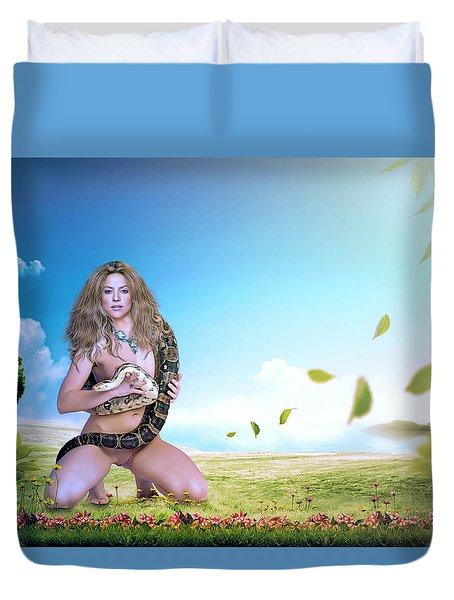 Shakira Mebarak Duvet Cover by Nestor Navarro