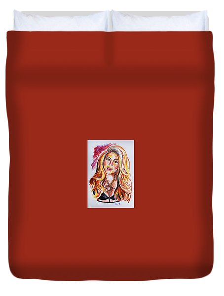 Shakira Duvet Cover by Viktoriya Lavtsevich