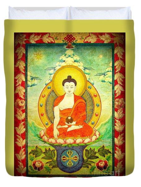 Shakyamuni Buddha Thangka Duvet Cover