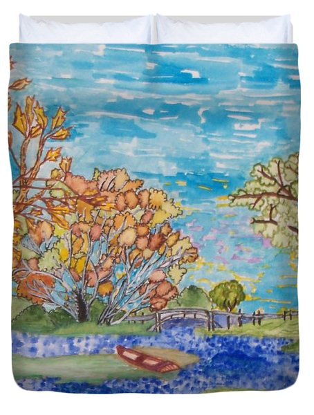 Shall We Go For A Summer Walk Duvet Cover by Connie Valasco