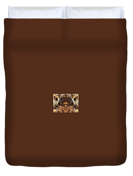 Shaman In The Wood. Duvet Cover