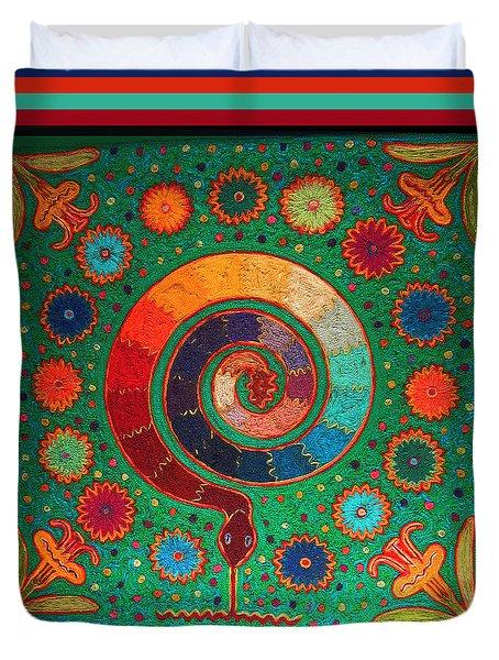 Shaman Serpent Ritual Duvet Cover