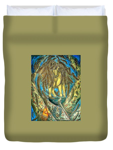 Shaman Spirit Duvet Cover by Kim Jones