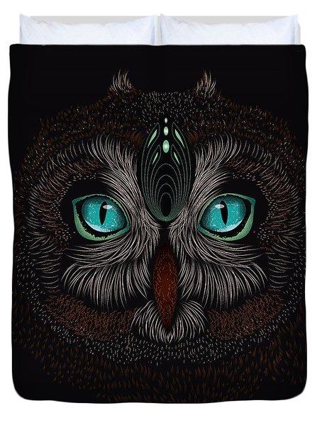 Shaman Spirit Owl Duvet Cover