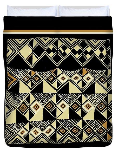 Duvet Cover featuring the digital art Shaman Tribal Kuba by Vagabond Folk Art - Virginia Vivier