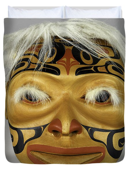 Shaman's Mask Duvet Cover