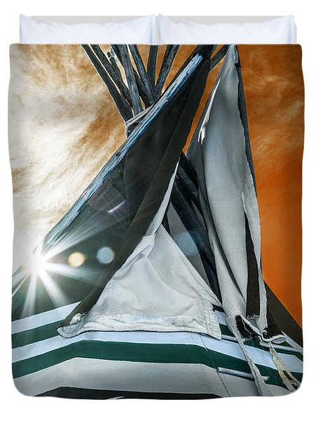 Shamans Tipi Duvet Cover