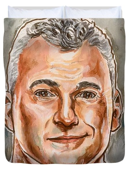 Duvet Cover featuring the painting Shane Mcmahon by Joel Tesch