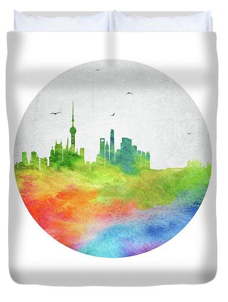Shanghai Skyline Chsh20 Duvet Cover