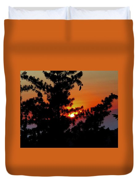 Shangrila Sunset Duvet Cover by Jack Eadon