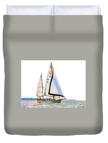 Shannon 38 Kittiwake On Chesapeake Bay Duvet Cover