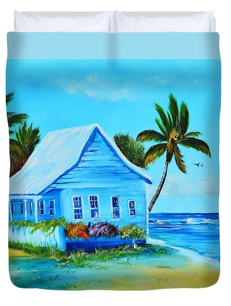 Shanty In Jamaica Duvet Cover