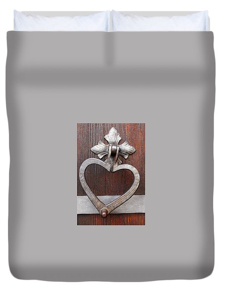 Duvet Cover featuring the photograph Shape Of My Heart by Juergen Weiss