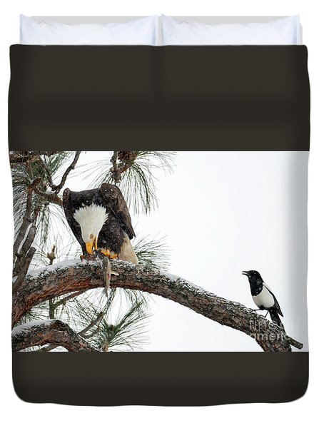 Share The Wealth Duvet Cover by Mike Dawson