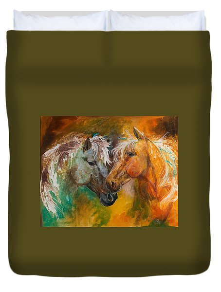 Sharing Secrets Duvet Cover by Sherry Shipley