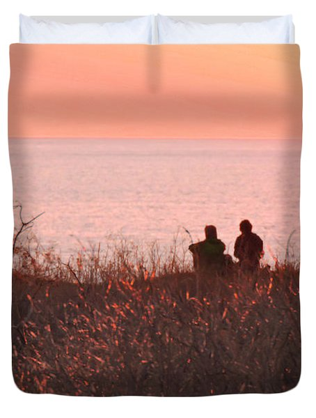 Sharing Tranquility Duvet Cover