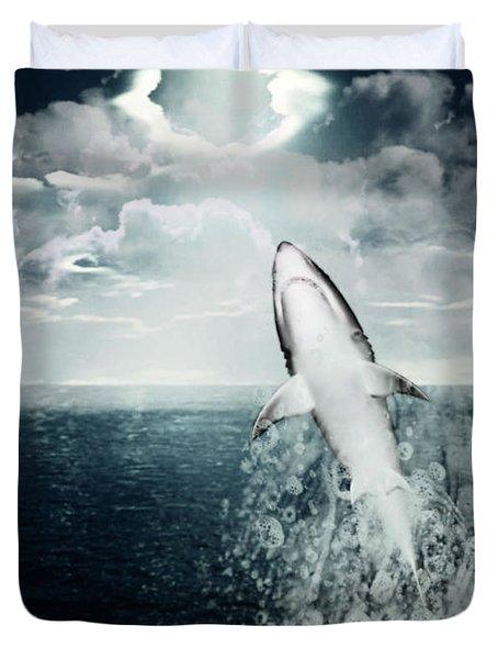 Shark Watch Duvet Cover