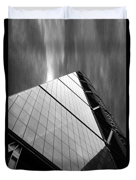 Sharp Angles Duvet Cover by Martin Newman