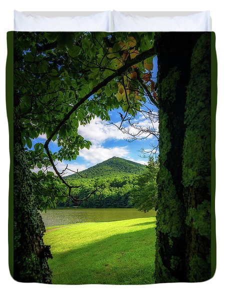 Sharp Top Through The Trees Duvet Cover