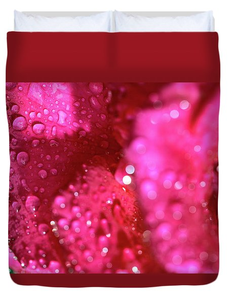 Duvet Cover featuring the photograph Sharp Wet Rose by T Brian Jones