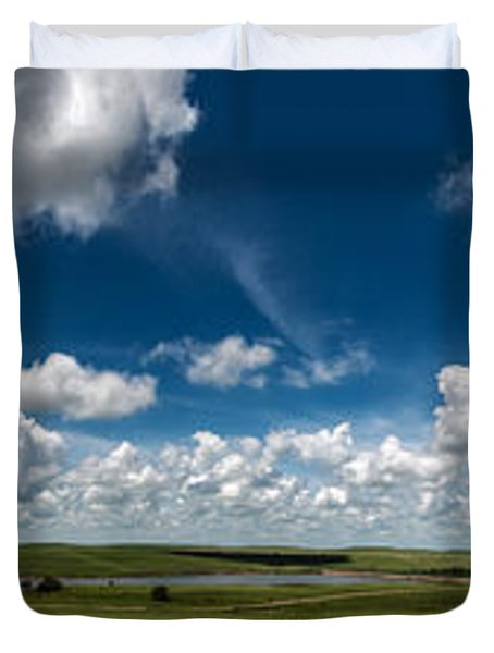 Sharps Creek Road Panorama Duvet Cover