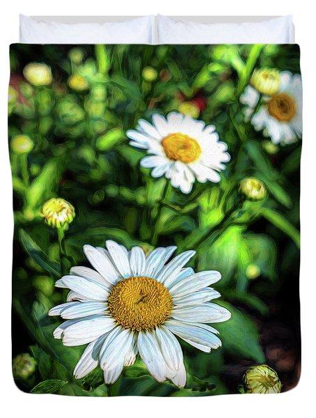 Shasta Daisy Duvet Cover