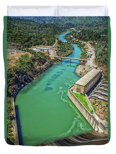 Shasta Lake Dam Duvet Cover by Billie-Jo Miller