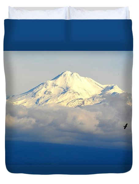 Shasta Near Sunset Duvet Cover