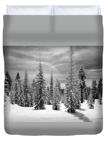 Shasta Snowtrees Duvet Cover