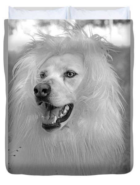 Shasta White Lion Dog Duvet Cover by Robyn Stacey