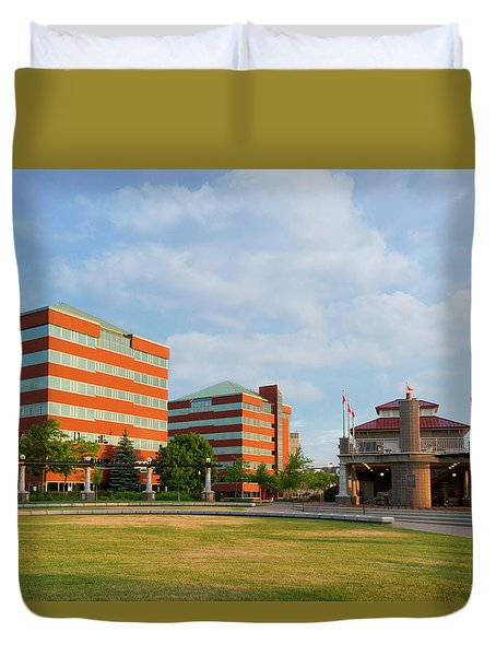 Duvet Cover featuring the photograph Shattuck Park by Joel Witmeyer