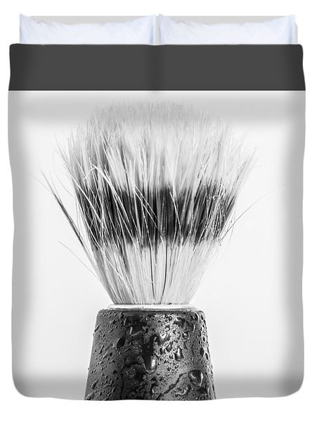 Duvet Cover featuring the photograph Shaving Brush by Gary Gillette