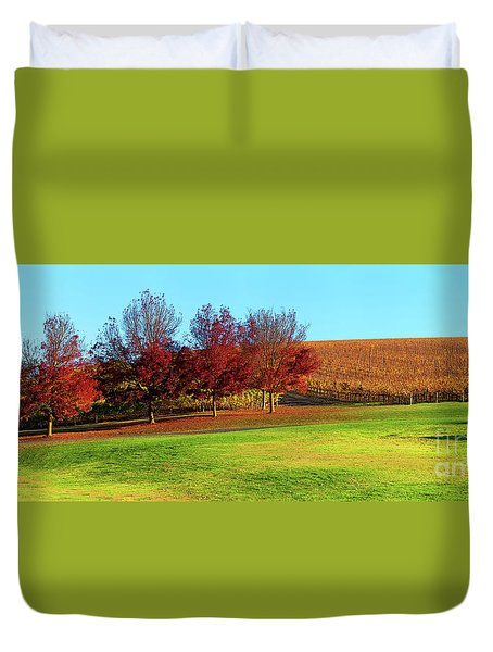 Duvet Cover featuring the photograph Shaw And Smith Winery by Bill Robinson