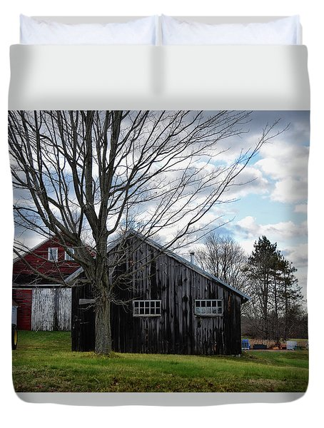 Shaw Hill Farm Duvet Cover by Tricia Marchlik