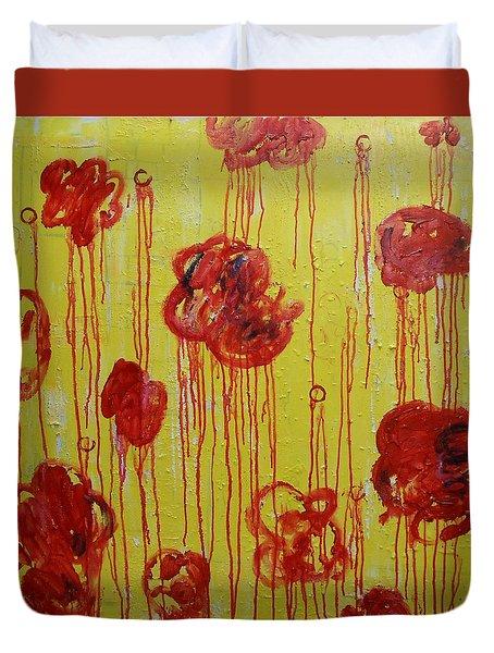 Shaw Park Flower Garden Duvet Cover