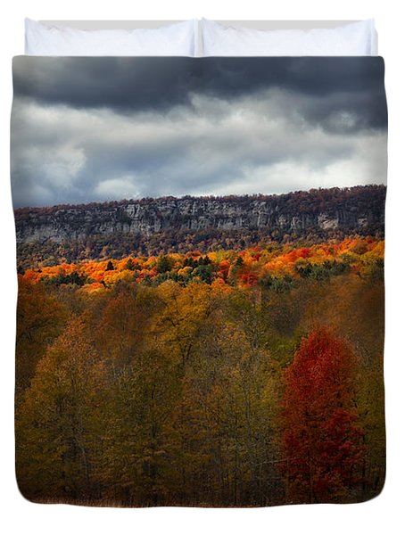 Duvet Cover featuring the photograph Shawangunk Mountains Hudson Valley Ny by Susan Candelario