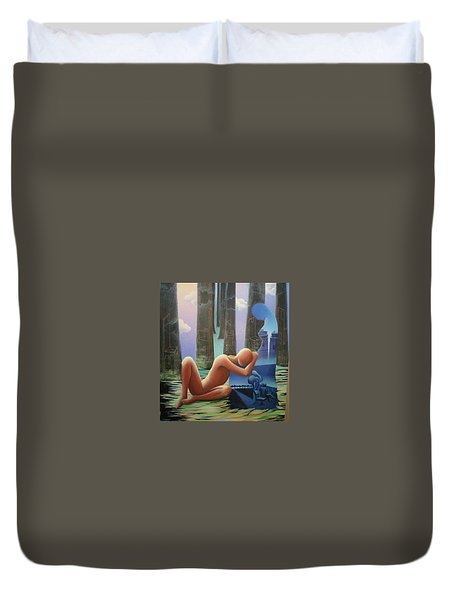She And I Duvet Cover by Raju Bose