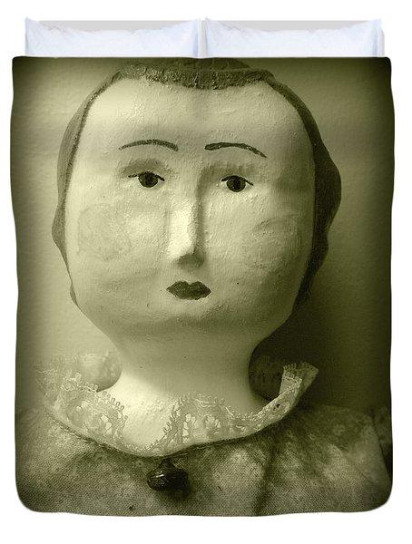 She Does Not Approve Duvet Cover by Susan Lafleur